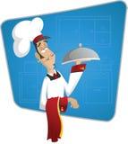 神气活现的厨师 库存图片