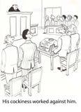 神气活现的律师 免版税库存图片