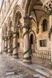神父的宫殿 杜布罗夫尼克市 克罗地亚 免版税库存图片