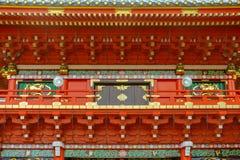 神田Myojin寺庙特写镜头在东京,日本 免版税图库摄影