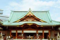 神田Myojin寺庙的看法在东京,日本 免版税图库摄影