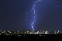 神的光,风暴来临 免版税库存照片