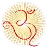 神的印度教om符号 免版税库存图片