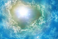 神的天空 免版税库存照片