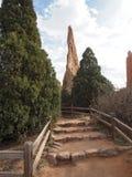 神的庭院在科罗拉多斯普林斯 免版税图库摄影