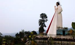 神的慈悲雕象在塞布湖 免版税库存照片