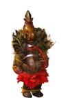 神的非洲木防护小雕象 库存图片
