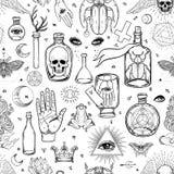 神秘主义者,魔术,背景 宗教和秘密主义与esote 皇族释放例证