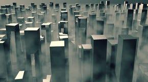 神秘城市的朽烂 库存照片