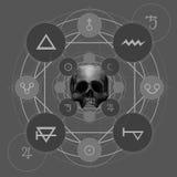 神秘的五芒星形 库存图片