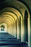 神秘的古老石走廊罗马 库存图片