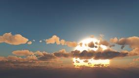 神秘的太阳和云彩 免版税库存图片