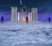 神秘的寺庙 免版税库存图片