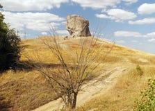 神秘的恶魔的岩石在Pidkamin 免版税图库摄影