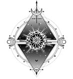 神秘的标志生活的起源:放射虫,神圣的几何 皇族释放例证