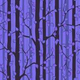 神秘的森林无缝的样式 库存照片