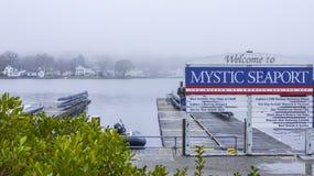 神秘的河的-神秘主义者/康涅狄格- 2017年4月5日神秘的海口博物馆 免版税库存图片