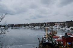 神秘的海口,康涅狄格,美国 免版税图库摄影