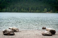 神秘的湖 库存图片