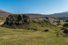 神秘的神仙的幽谷,苏格兰高地 库存图片
