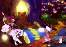 神秘的洞世界(2006) 向量例证