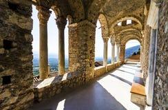 神秘的Mystras, Panayia Pantanassa修道院 免版税库存图片
