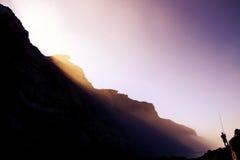 神秘的raylights 免版税库存照片