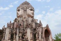 神秘的shri寺庙yantra 免版税图库摄影