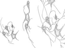 神经元剪影 库存图片