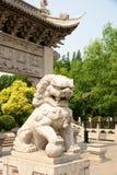 神话狮子雕象 库存照片