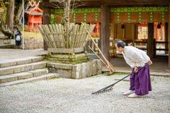 神道的信徒的教士 库存图片