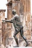 神阿波罗的古铜在庞贝城 库存照片