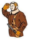 神风队队员飞行员 免版税库存图片
