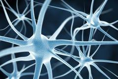 神经元抽象背景 皇族释放例证