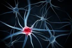 神经元抽象背景 库存例证