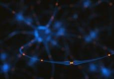 神经元电子脉冲 皇族释放例证
