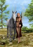 神仙和独角兽 免版税库存照片