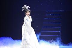 神仙的唱江西OperaBlue外套 库存图片