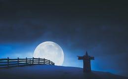 神仙的巫术师和月亮 Instagram仿效 免版税图库摄影