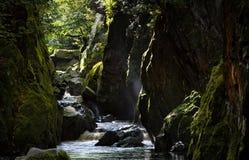 神仙的幽谷 库存图片