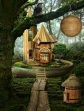 神仙的房子(桶) 免版税库存照片