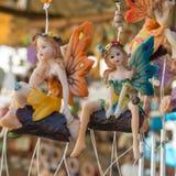 神仙的手工制造小雕象 免版税库存图片