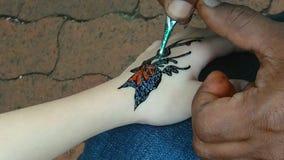 神仙的纹身花刺 库存照片