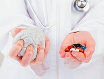 神经精神病学的roborating的药片 图库摄影