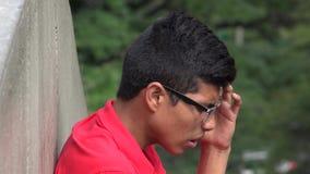 神经过敏青少年与重音和忧虑 免版税库存照片