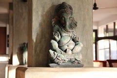 神Ganesha的黏土雕象 免版税库存图片