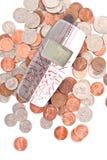 票据便宜的概念电话 库存照片