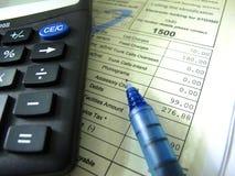 票据印地安人电话 免版税库存图片