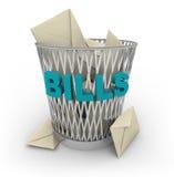 票据可能破坏 免版税库存图片
