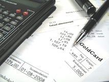 票据支付您 免版税库存照片